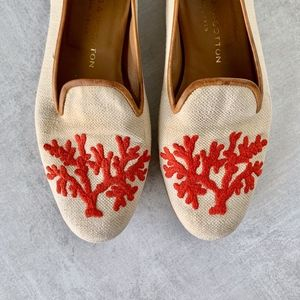 Stubbs and Wootton Coral Loafers